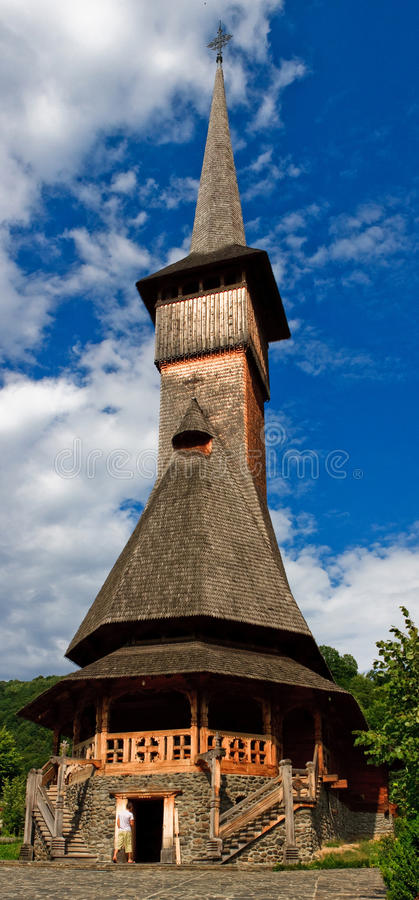 скит церков barsana деревянный стоковое изображение rf