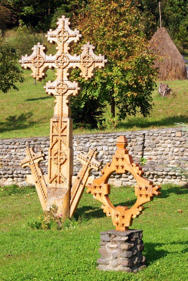скит barsana перекрестный деревянный стоковое изображение rf