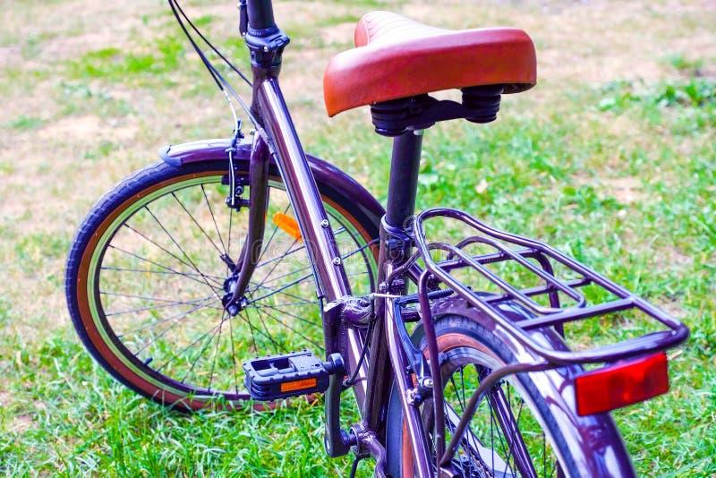 Складывая идя велосипед ` s женщин стоковые фотографии rf