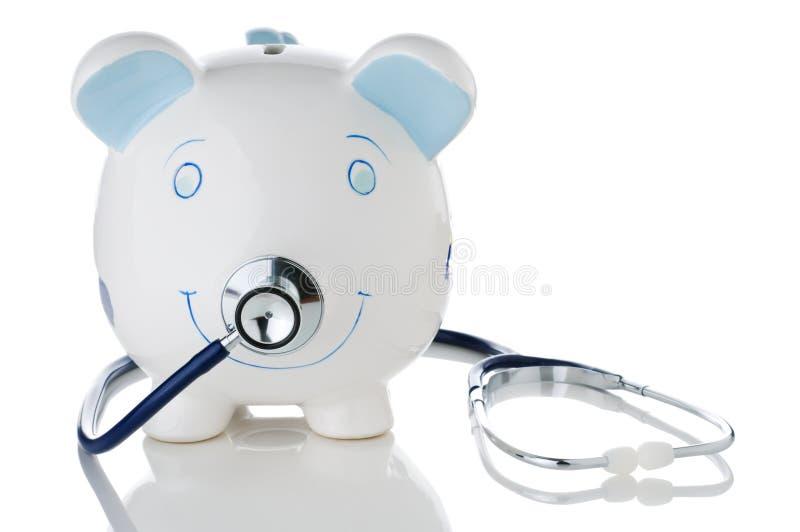 склоняя сбережения здоровья экономии побеспокоили стоковые фото