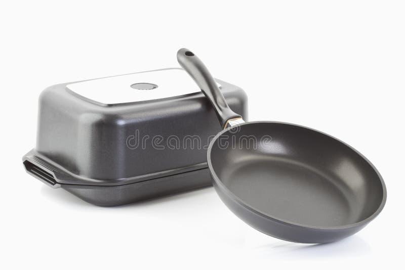 сковороды бросания алюминия стоковая фотография