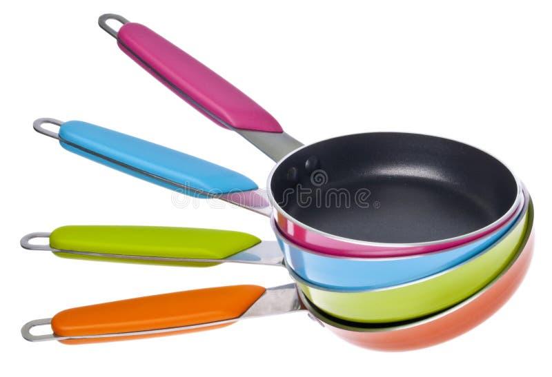 сковороды живые стоковое изображение