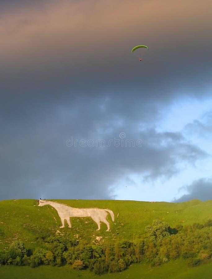 скользя лошадь hang с westbury белизны стоковые фото