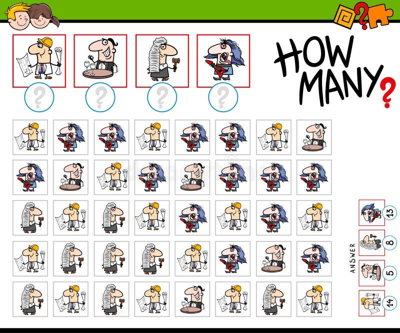 Сколько профессионалов подсчитывая игру бесплатная иллюстрация