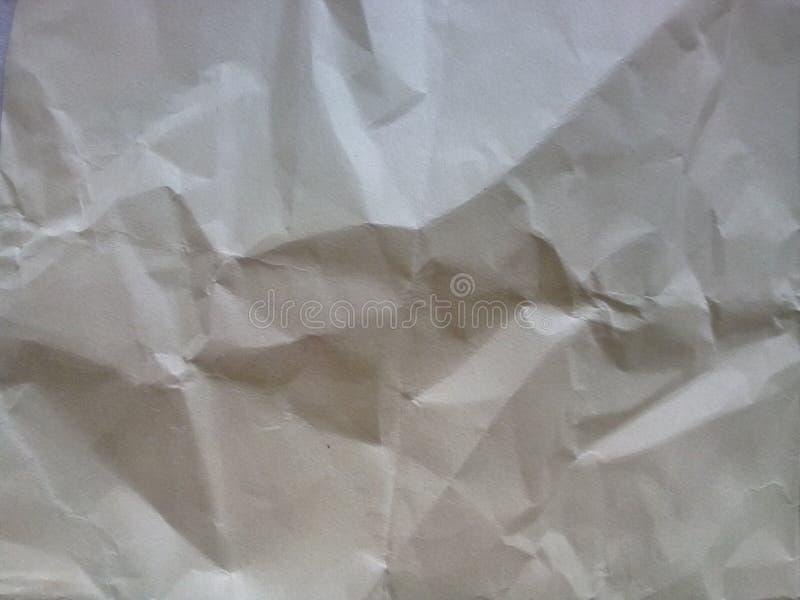 Скомканная бумажная текстура предпосылки стоковые изображения rf