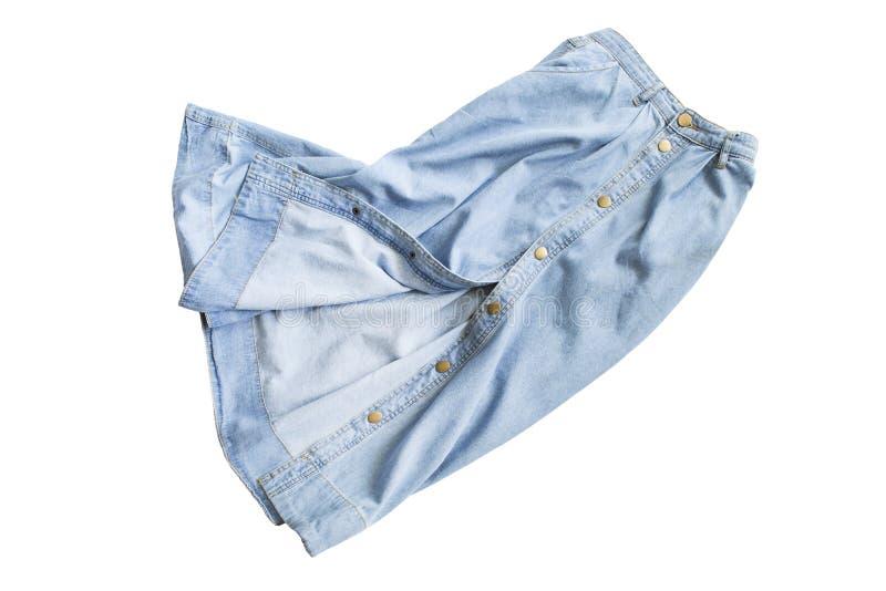 Скомканная изолированная юбка стоковая фотография rf