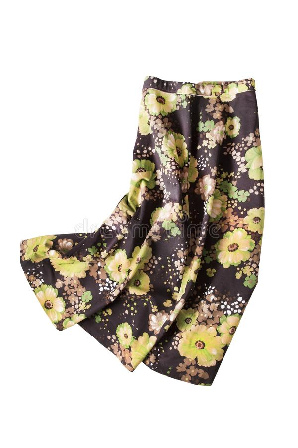 Скомканная изолированная юбка стоковая фотография