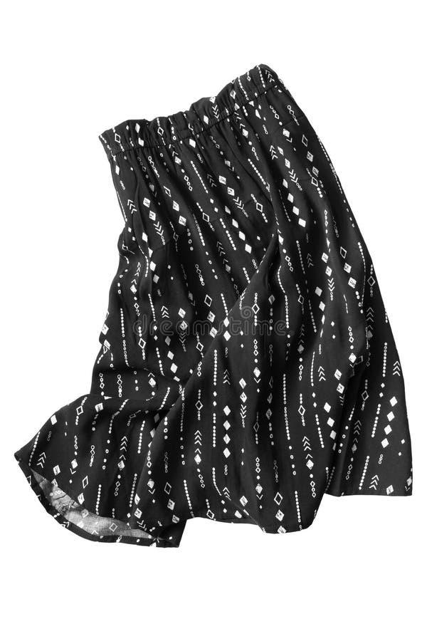 Скомканная изолированная юбка стоковые фото
