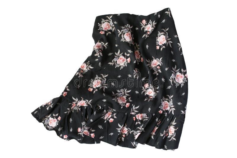 Скомканная изолированная юбка стоковое изображение rf