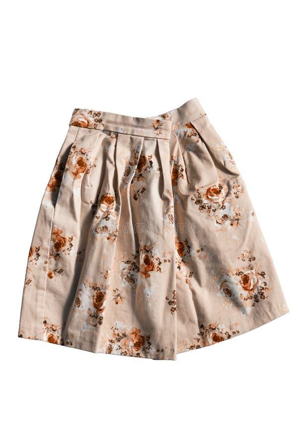 Скомканная изолированная юбка стоковые изображения rf
