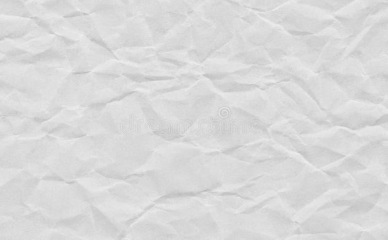 Скомканная крупным планом предпосылка текстуры grunge серая бумажная Светлый - серый бумажный лист с космосом для текста, картины стоковые фотографии rf