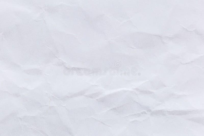 Скомканная предпосылка белой бумаги для дизайна стоковые изображения rf