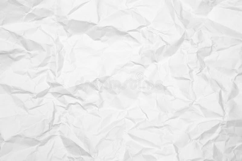 Скомканная предпосылка текстуры белой бумаги Сморщенная белая бумага текстурировала предпосылку стоковые изображения