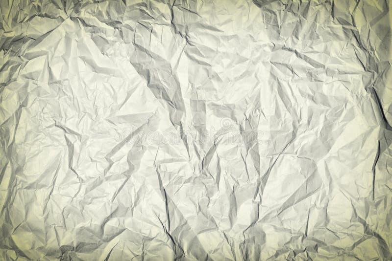 Скомканная серая бумага Пустая предпосылка для плана с виньеткой r стоковые изображения rf