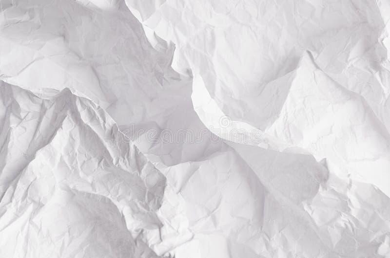 Скомканная текстура белой бумаги relievo мягкая стоковые фотографии rf