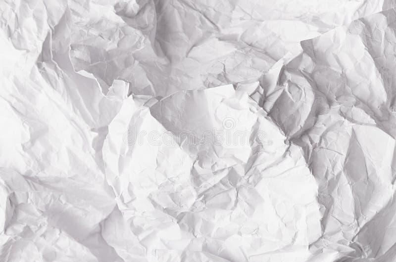 Скомканная текстура белой бумаги relievo мягкая стоковые изображения rf
