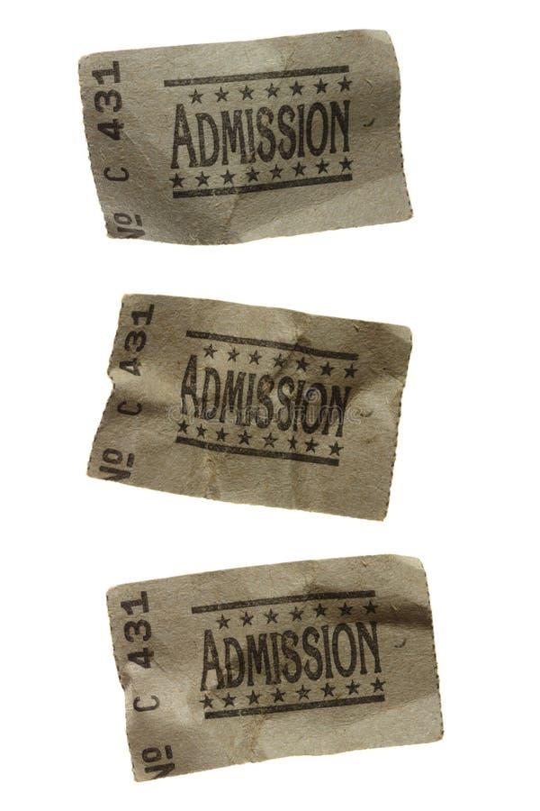 скомканные допущением билеты генералитета 3 стоковое изображение