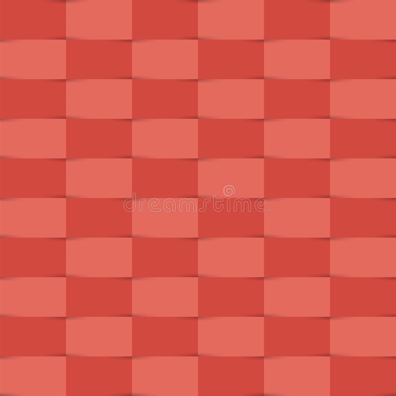 Скомканные ленты Абстрактная геометрическая предпосылка с чередовать бесплатная иллюстрация