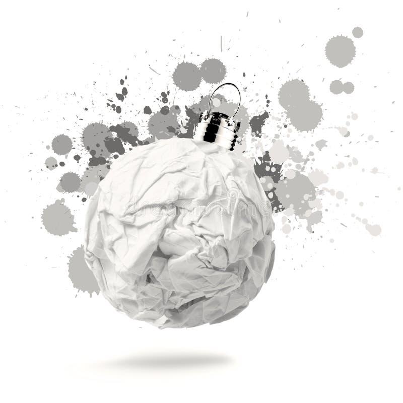Скомканный бумажный орнамент рождества стоковое изображение