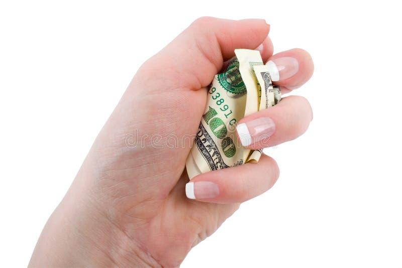 Скомканный доллар стоковая фотография