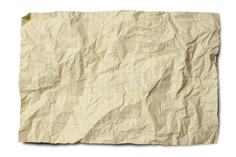 скомканный законный бумажный желтый цвет стоковое изображение