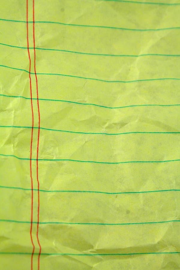 скомканный изолированный законный бумажный белый желтый цвет стоковое фото rf
