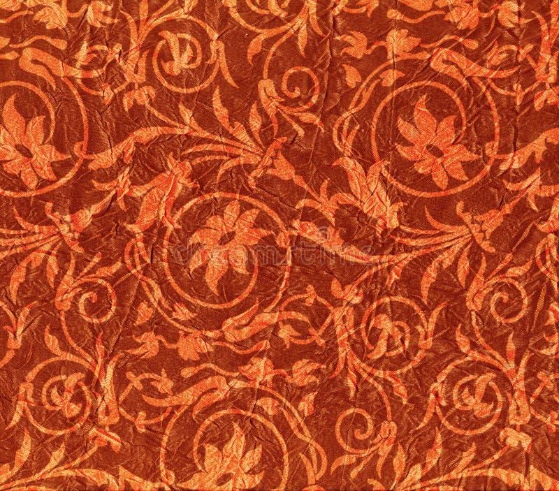 скомканный красный цвет ткани иллюстрация штока