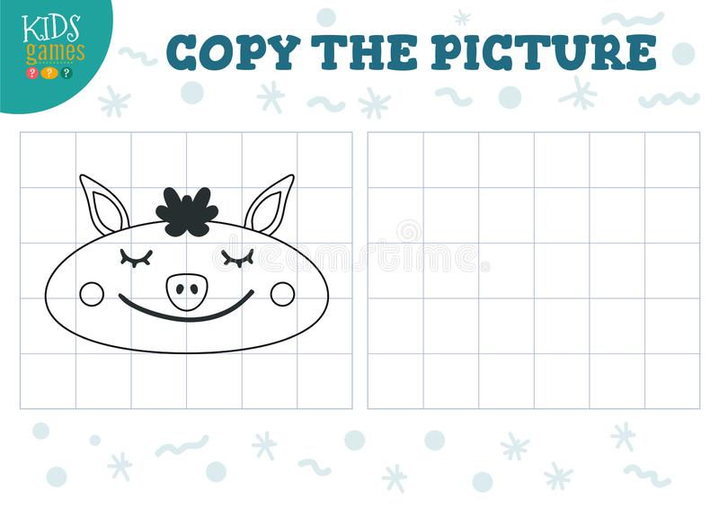 Скопируйте иллюстрацию вектора изображения Воспитательная игра для детей preschool иллюстрация штока