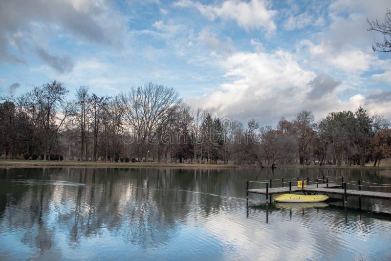 Скопье парка города стоковые фотографии rf