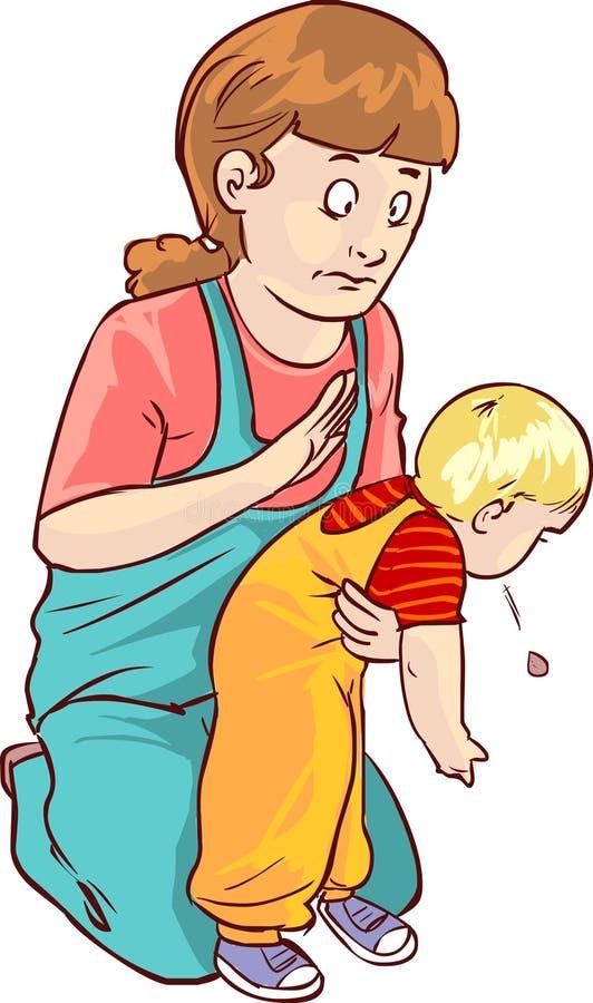 Скорая помощь младенца иллюстрация вектора
