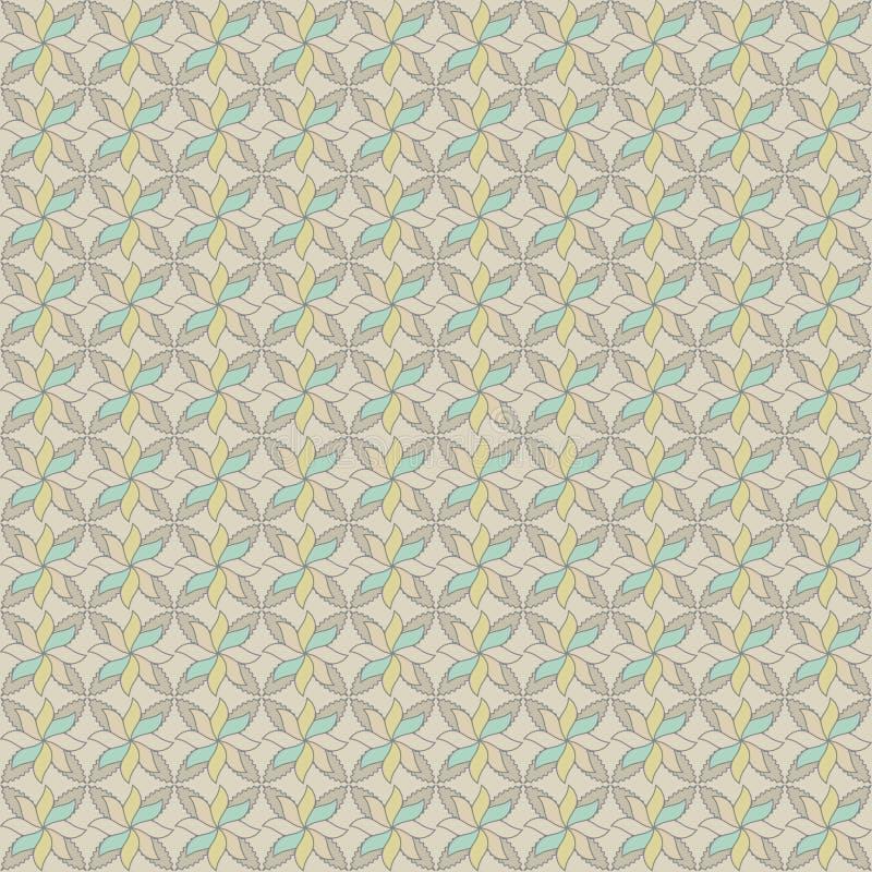 Скороговорка вектора безшовная абстрактных цветков иллюстрация штока