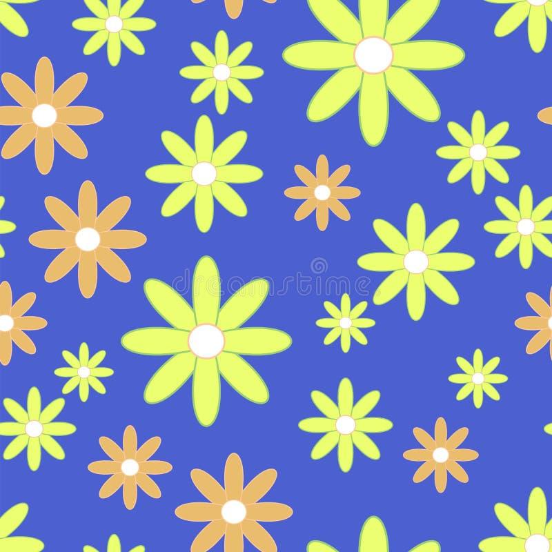 Скороговорка вектора безшовная с плоскими цветками бесплатная иллюстрация