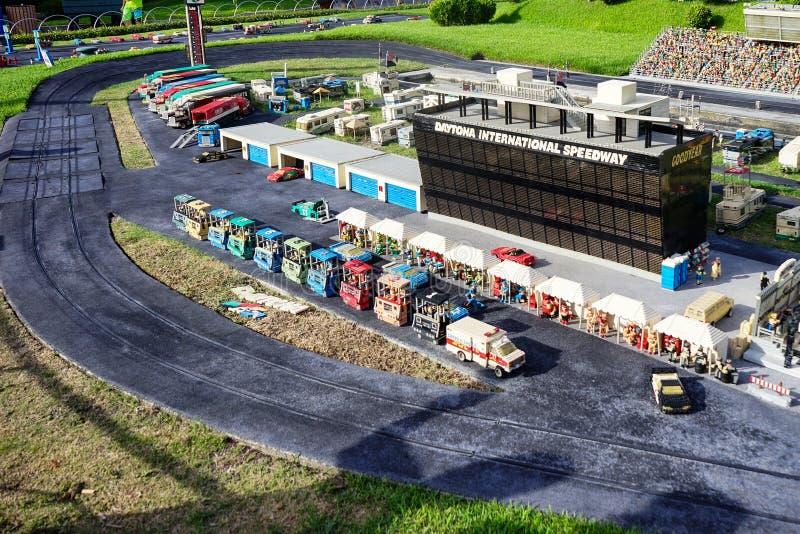 Скоростная дорога Daytona международная в legoland стоковое фото rf
