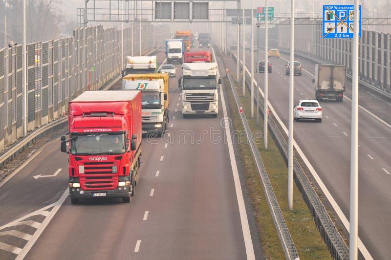 Скоростная дорога S17 близко к Люблину, Польше стоковые фотографии rf