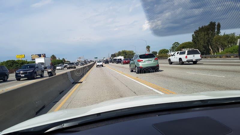 скоростное шоссе los angeles стоковое изображение