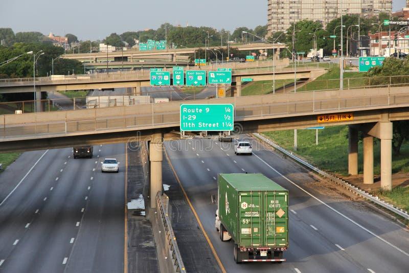 Скоростные шоссе Kansas City стоковая фотография rf