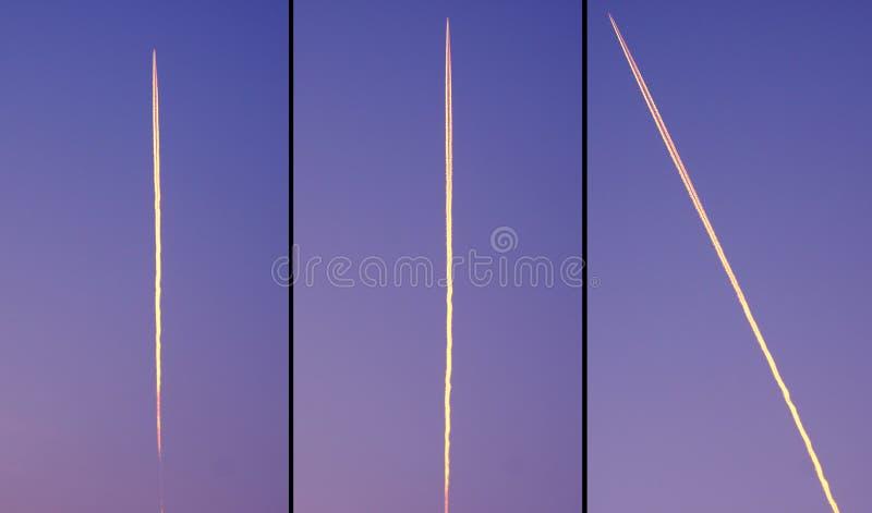 Скорость высоты Aircraff в небе стоковые фото