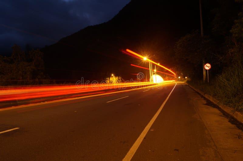 Скорость на ноче стоковое фото rf