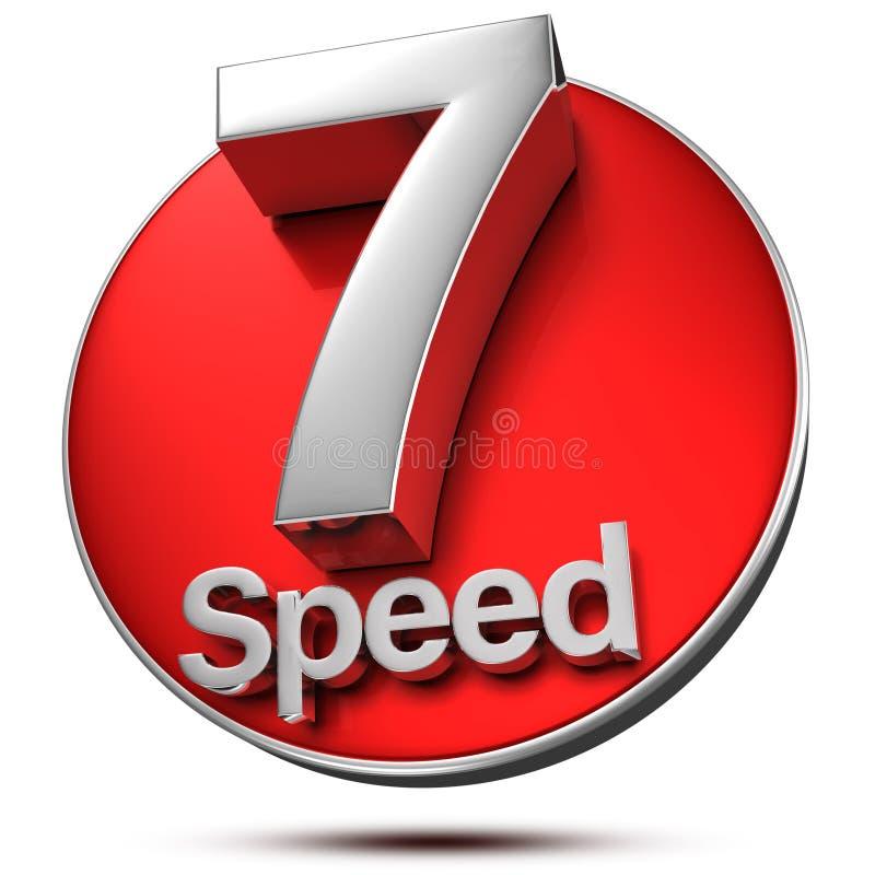 7 Скорость 3d бесплатная иллюстрация