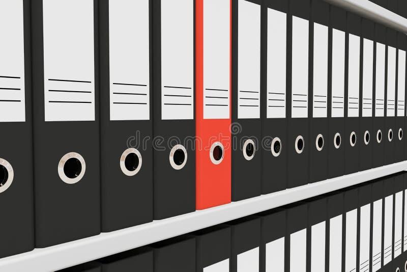 скоросшиватели архивохранилища иллюстрация вектора