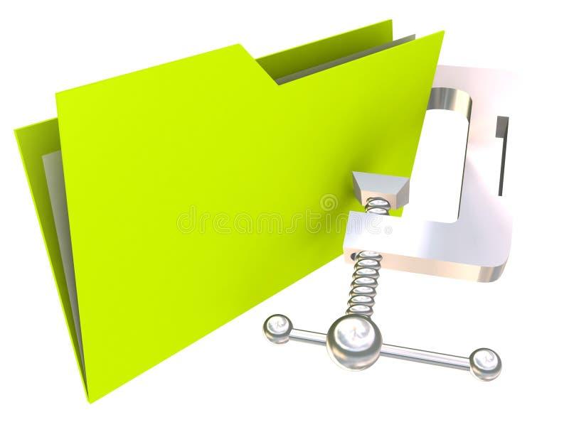 скоросшиватель архивохранилища иллюстрация штока
