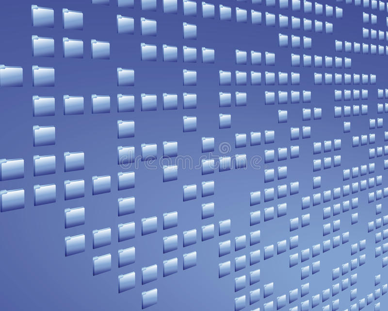скоросшиватель данных иллюстрация вектора
