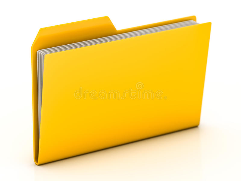скоросшиватели архивов 3d представляют иллюстрация вектора