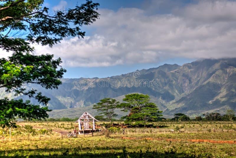 Скотоводческое ранчо на Кауаи, Гаваи стоковые изображения