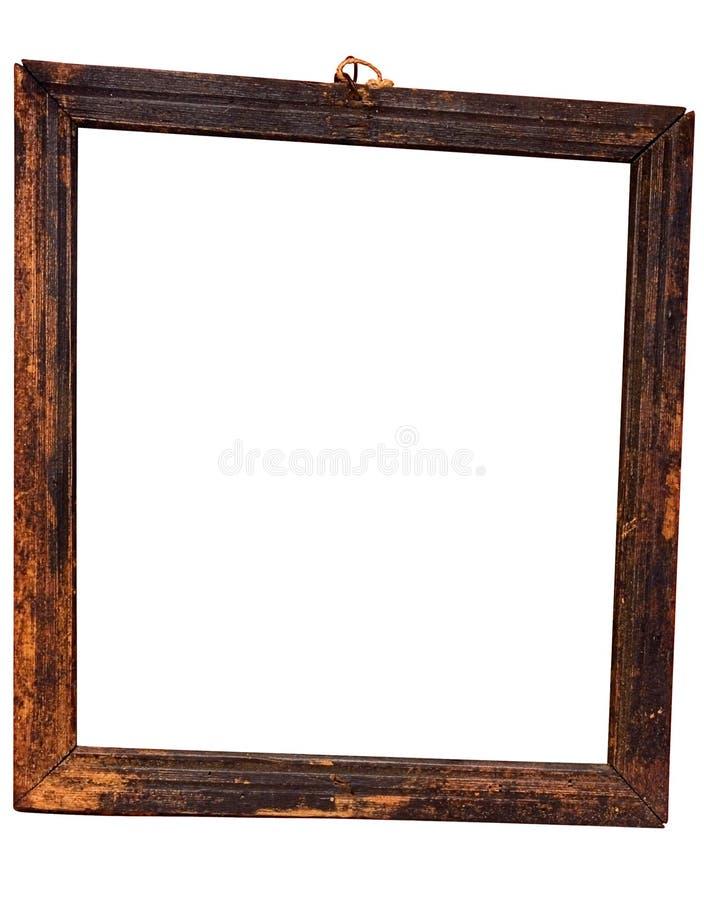 скошенное деревянное путя рамки выдержанное w стоковое изображение