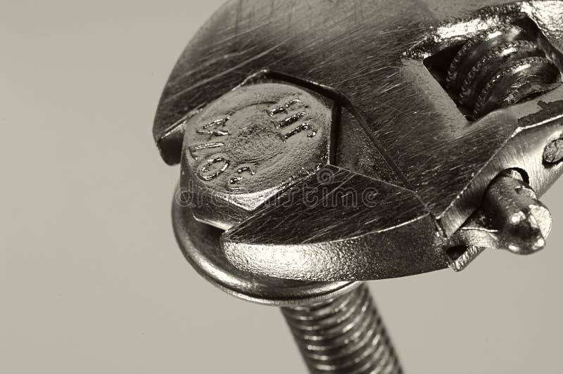 скрепите болтами ключ стоковое фото rf