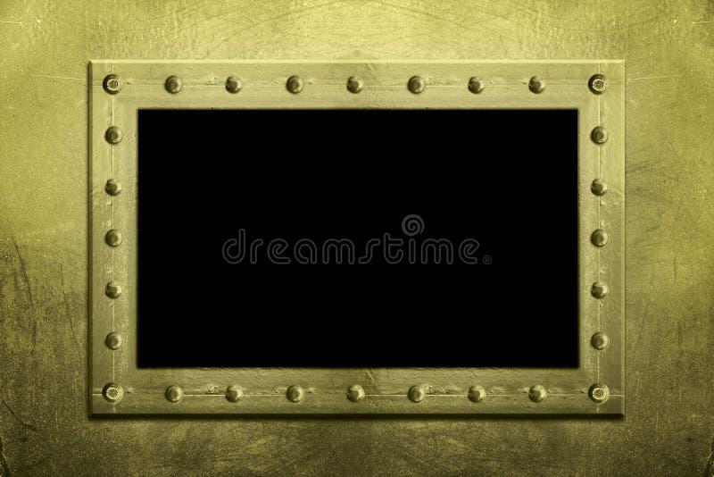 скрепленный болтами металл рамки стоковые изображения rf