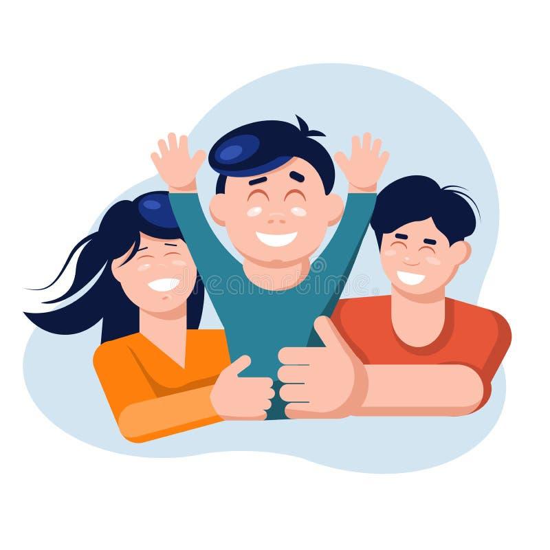 скрепляет болтами гайки семьи принципиальной схемы состава Сын владением матери и отца иллюстрация штока