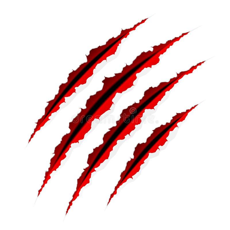 скресты когтей иллюстрация вектора