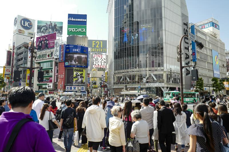 Скрещивание борьбы Shibuya Shibuya особенная палата в Токио стоковые изображения rf